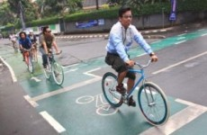 Thousands of Cyclists Pedal Out for Opening of Bike Lane in Jakarta