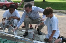 "Dundalk Elementary: Don't Dump, Chesapeake Bay Drainage."""