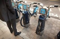 bike sharing rack in London