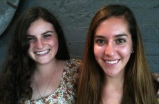 Charlotte Biren and Jenna Perelman green students