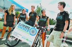 PEDALING FOR A CAUSE: Students see Keene as a model