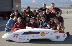 Students with self designed car