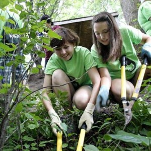 Students at Appleton East High School working for the Environment