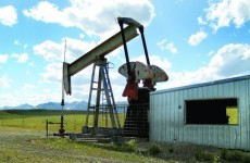 Oil well on Blackfoot Tribal Land