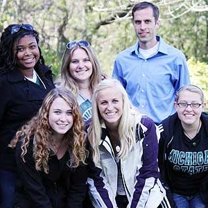 Michigan State University students with Professor Ryan Sweeder.