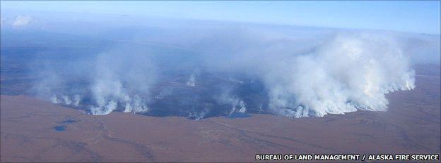 Tundra burning